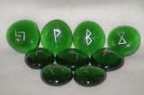 Runen- grün/silber